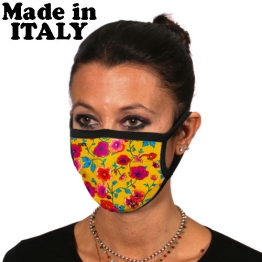 ITATI ADULT FACE MASK SILK FLOWERS